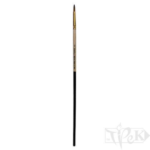 Пензлик «Kissточка» 72011 Синтетика кругла № 02 довга ручка рудий ворс