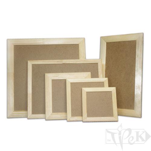 Деревянная рамка для декора с ДВП 10х10 см (планка 25х16)