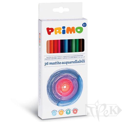Набір акварельних олівців Minabella 36 кольорів в картонній коробці Primo Італія