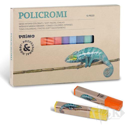 Набір пастельної крейди 12 кольорів в картонній коробці Primo Італія