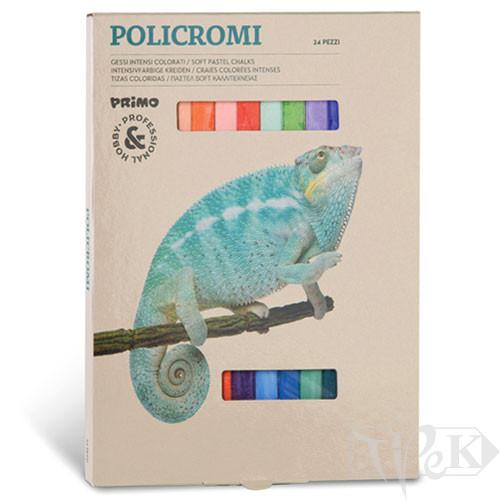 Набір пастельної крейди 24 кольори в картонній коробці Primo Італія
