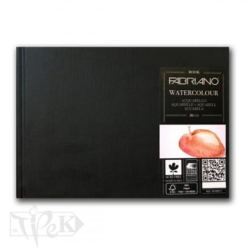 19100011 Альбом для акварелі Watercolour Book А5 (14,8х21 см) 200 г/м.кв. 30 аркушів в книжковій палітурці Fabriano Італія