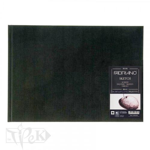 19100005 Альбом для ескізів Sketch Book А4 (21х29,7 см) 110 г/м.кв. 80 аркушів в палітурці по короткій стороні Fabriano Італія
