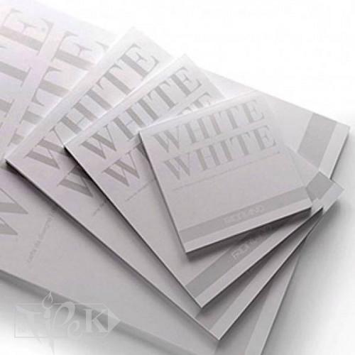 19100417 Альбом для ескізів White White 20х20 см 300 г/м.кв. 20 аркушів білого паперу склейка Fabriano Італія