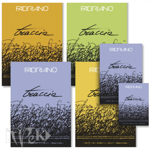 22105148 Блокнот для ескізів Traccia А6 (10,5х14,8 см) 60 г/м кв. 120 аркушів склейка Fabriano Італія