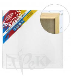 Подрамник с холстом упакованный белый хлопок (Италия) подвернутый 100х130 Планка 55х18 2 перемычки «Трек» Украина