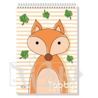 Блокнот «Tabby Note» fox В6 (125х176 мм) 60 г/м кв. 60 листов на спирали Profiplan