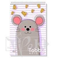 Блокнот «Tabby Note» mouse В6 (125х176 мм) 60 г/м кв. 60 листов на спирали Profiplan