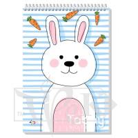 Блокнот «Tabby Note» rabbit В6 (125х176 мм) 60 г/м кв. 60 листов на спирали Profiplan