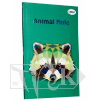 Блокнот «Animal note» green А5 (14,8х21 см) 70 г/м.кв. 80 аркушів склейка Profiplan
