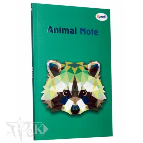 Блокнот «Animal note» green А5 (14,8х21 см) 70 г/м.кв. 80 листов склейка Profiplan