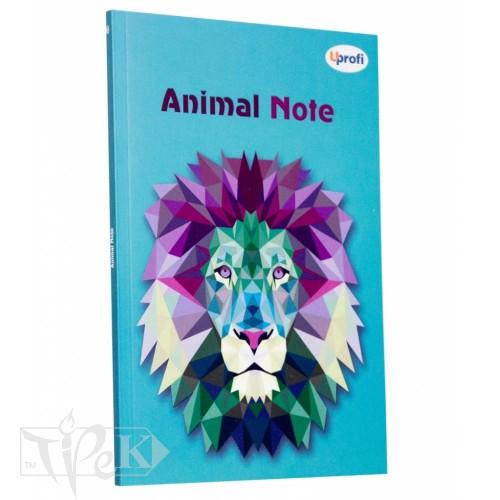 Блокнот «Animal note» mint А5 (14,8х21 см) 70 г/м.кв. 80 аркушів склейка Profiplan