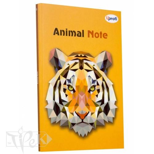 Блокнот «Animal note» orange А5 (14,8х21 см) 70 г/м.кв. 80 аркушів склейка Profiplan