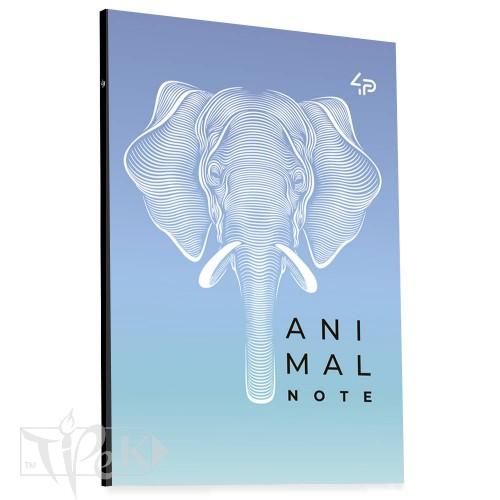 Блокнот «Animal note» violet В6 (125х176 мм) 70 г/м.кв. 80 листов склейка Profiplan