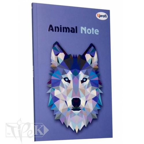 Блокнот «Animal note» violet А5 (14,8х21 см) 70 г/м.кв. 80 аркушів склейка Profiplan