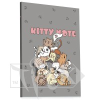 Блокнот «Kitty note» grey А5 (14,8х21 см) 70 г/м.кв. 80 листов склейка Profiplan