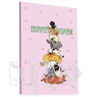 Блокнот «Kitty note» light pink А5 (14,8х21 см) 70 г/м.кв. 80 листов склейка Profiplan