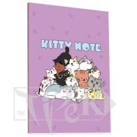 Блокнот «Kitty note» lilac А5 (14,8х21 см) 70 г/м.кв. 80 листов склейка Profiplan