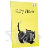 Блокнот «Kitty note» yellow В6 (125х176 мм) 70 г/м.кв. 80 аркушів склейка Profiplan