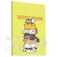 Блокнот «Kitty note» yellow А5 (14,8х21 см) 70 г/м.кв. 80 листов склейка Profiplan