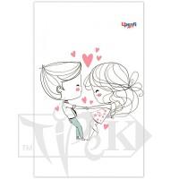 Блокнот «Lovers dancing» В6 (125х176 мм) 70 г/м.кв. 80 листов склейка Profiplan