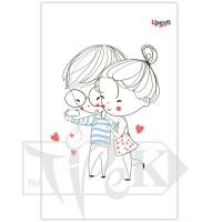 Блокнот «lovers selfie» В6 (125х176 мм) 70 г/м.кв. 80 листов склейка Profiplan