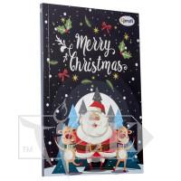 Блокнот «Merry Christmas» santa А5 (14,8х21 см) 70 г/м.кв. 80 листов склейка Profiplan