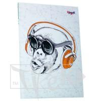 Блокнот «Music note» monkey А5 (14,8х21 см) 70 г/м.кв. 80 листов склейка Profiplan