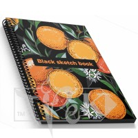 Блокнот «Black sketch book» four А5 (14,8х21 см) 160 г/м.кв. 128 листов на спирали Profiplan