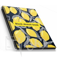 Блокнот «Black sketch book» one А5 (14,8х21 см) 160 г/м.кв. 128 листов на спирали Profiplan