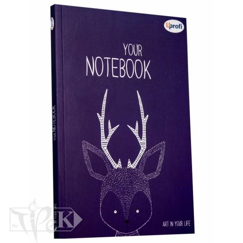 Блокнот «Artbook» violet В6 (125х176 мм) 80 г/м.кв. 128 аркушів склейка Profiplan