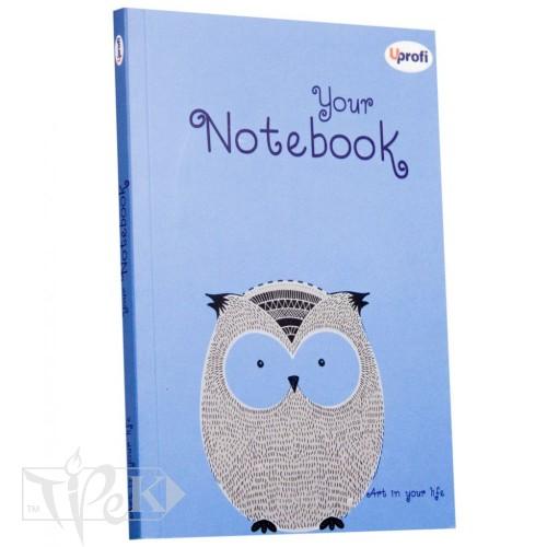Блокнот «Artbook» blue А5 (14,8х21 см) 80 г/м.кв. 128 аркушів склейка Profiplan