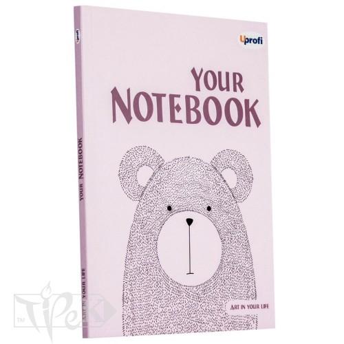 Блокнот «Artbook» light pink А5 (14,8х21 см) 80 г/м.кв. 128 аркушів склейка Profiplan
