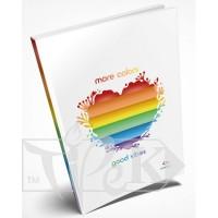Блокнот «Rainbow» heart А5 (14,8х21 см) 80 г/м.кв. 160 листов Profiplan