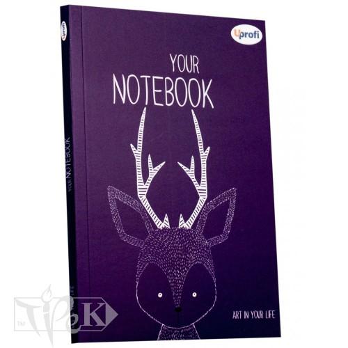 Блокнот «Artbook» violet А5 (14,8х21 см) 80 г/м.кв. 128 аркушів склейка Profiplan