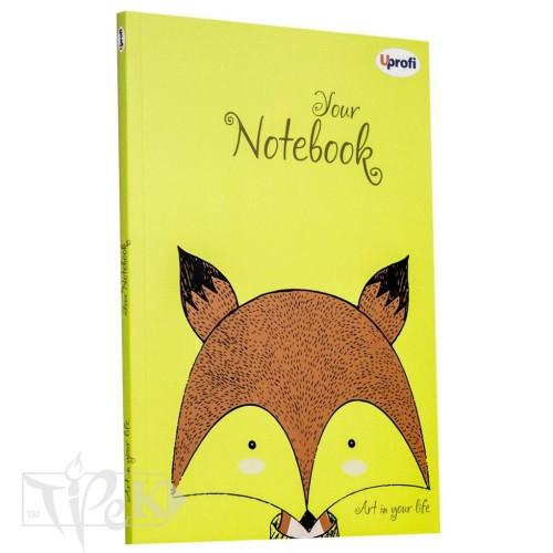 Блокнот «Artbook» lime А5 (14,8х21 см) 80 г/м.кв. 128 аркушів склейка Profiplan