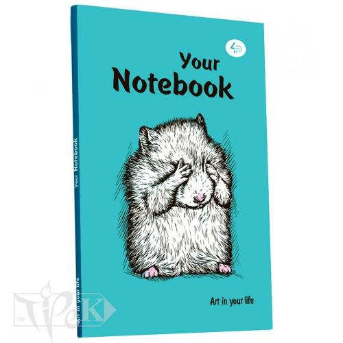 Блокнот «Artbook» mint А5 (14,8х21 см) 80 г/м.кв. 128 аркушів склейка Profiplan