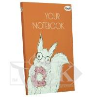 Блокнот «Artbook» orange А5 (14,8х21 см) 80 г/м.кв. 128 аркушів склейка Profiplan