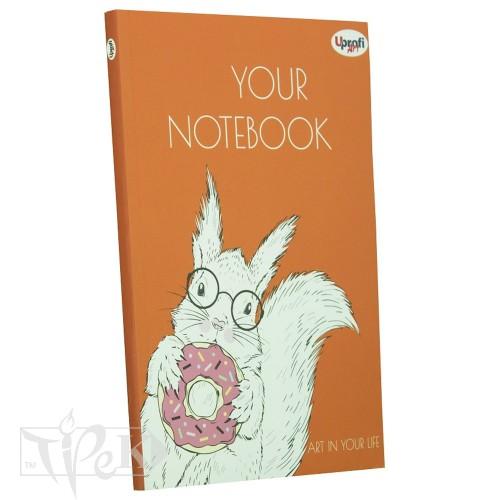Блокнот «Artbook» orange А5 (14,8х21 см) 80 г/м.кв. 128 листов склейка Profiplan