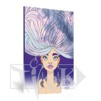 Блокнот «Lady book» Romantik А5 (14,8х21 см) 70 г/м.кв. 80 листов склейка Profiplan