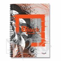 Блокнот «Black & Bright» orange Office А5 (14,8х21 см) 70 г/м.кв. 80 листов на спирали Profiplan