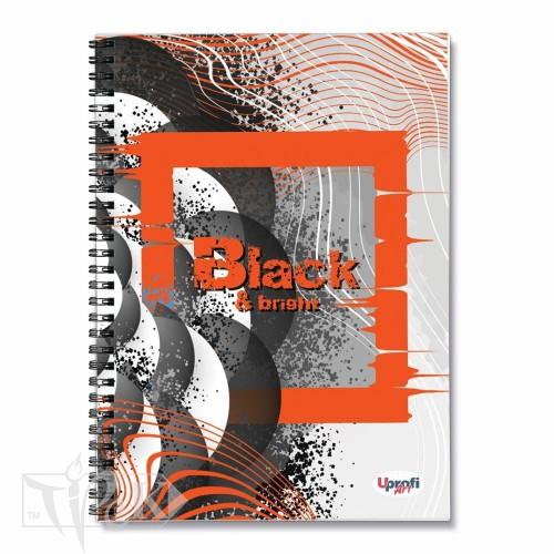 Блокнот «Black & Bright» orange Office А5 (14,8х21 см) 70 г/м.кв. 80 аркушів на спіралі Profiplan