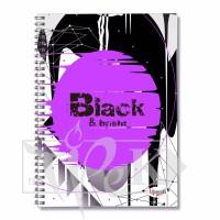 Блокнот «Black & Bright» violet Office А5 (14,8х21 см) 70 г/м.кв. 80 листов на спирали Profiplan