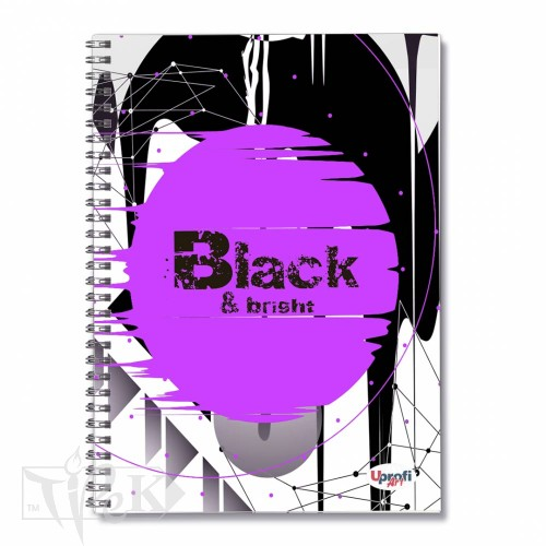 Блокнот «Black & Bright» violet Office А5 (14,8х21 см) 70 г/м.кв. 80 аркушів на спіралі Profiplan