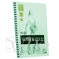 Блокнот «Black & Gold» rectangle Office А5 (14,8х21 см) 70 г/м.кв. 80 листов на спирали Profiplan