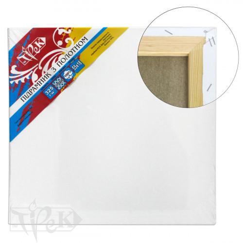 Подрамник с холстом упакованный белый хлопок (Италия) подвернутый 90х150 Планка 55х18 2 перемычки «Трек» Украина