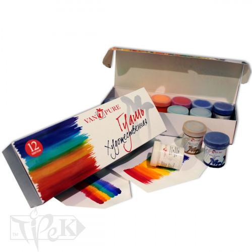 Набір гуашевих фарб 12 кольорів по 40 мл Van Pure