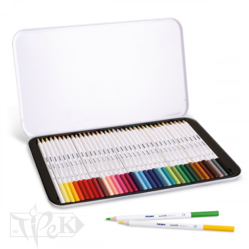 Набір кольорових олівців Minabella 36 кольорів в металевій коробці Primo Італія