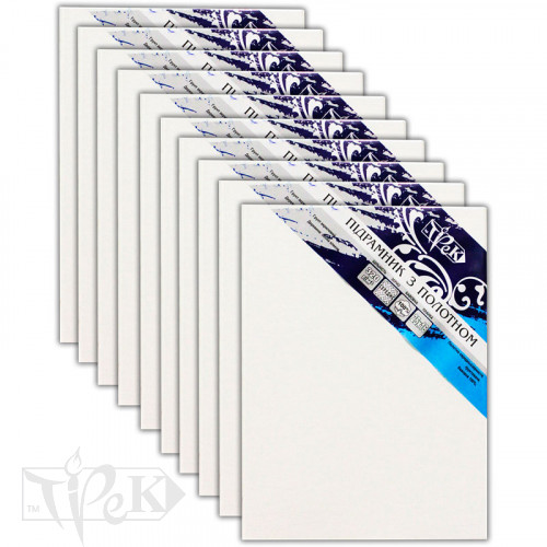 Набір підрамників з полотном упакований бавовна Трек підгорнутий 20х30 Планка 25х16 10 штук «Трек» Україна